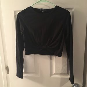 Missguided cropped long sleeve top